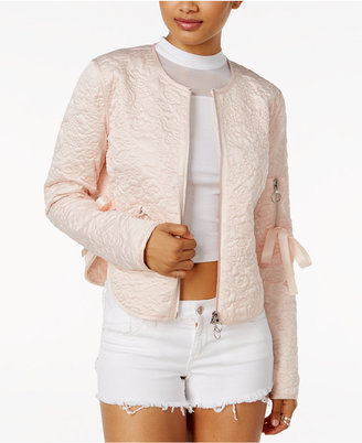 Guess Bottega Quilted Bow-Detail Jacket $128 thestylecure.com