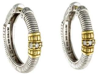 Judith Ripka Diamond Hoop Earrings