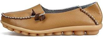 LabatoStyle Women's Genuine Leather Flats Casual Moccasin Driving Loafers Shoes (, 10.5 B(M) US)