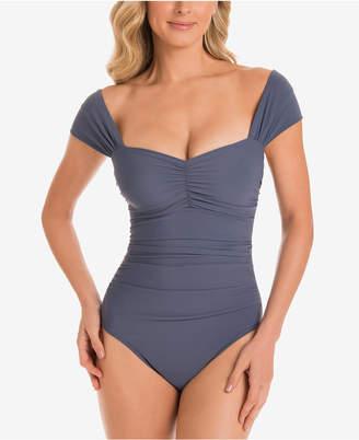 Magicsuit Natalie Allover Slimming Off-The-Shoulder One-Piece Swimsuit