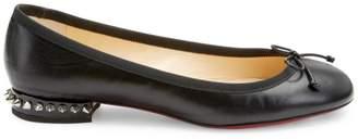 Christian Louboutin La Massine Studded Leather Flats