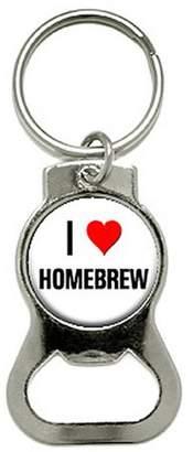 Generic I Love Heart Homebrew Home Brew Bottle Cap Opener Keychain Ring