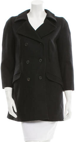 Miu Miu Miu Miu Virgin Wool Double-Breasted Coat