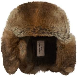 Yves Salomon Rabbit Fur Aviator Hat