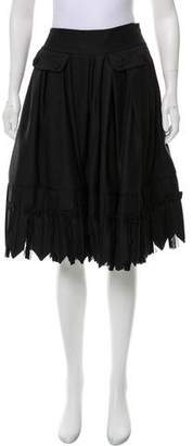 John Galliano Wool Pleated Skirt