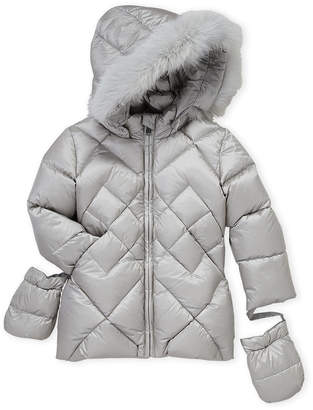 ADD Toddler Boys) Real Fur Trim Down Jacket
