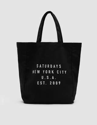 Saturdays NYC Established USA Tote in Black