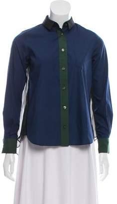Sacai Luck Mesh Trim Button-Up