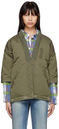 Visvim Green Down Sanjuro Kimono Jacket