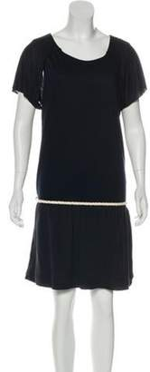 Fendi Short Sleeve Knee-Length Dress w/ Tags Blue Short Sleeve Knee-Length Dress w/ Tags