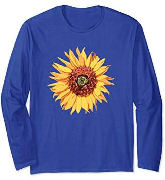 Long Sleeve Gorgeous Sunflower Graphic Drawing For Gardeners