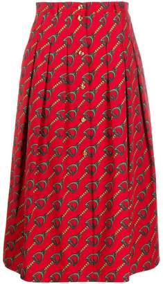 Gucci chain print midi skirt