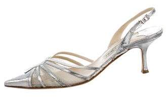 Jimmy Choo Metallic Slingback Pumps