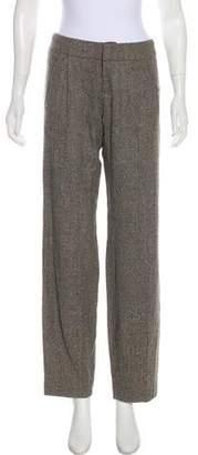 Alice + Olivia Herringbone Straight-Leg Pants