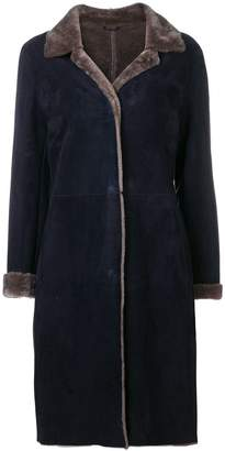 Liska bi-colour suede coat