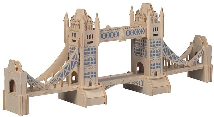 Puzzled London Tower Bridge 104-pc. 3D Wooden Puzzle by Puzzled