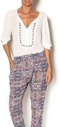 Angie White Studded Top