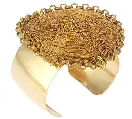 Nugaard Designs Golden Grass Circle Cuff