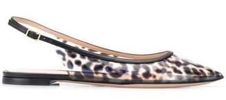 Gianvito Rossi Pointed Slingback PVC Flats