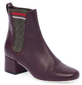 Fendi Perforated Paneled Leather Chelsea Boots