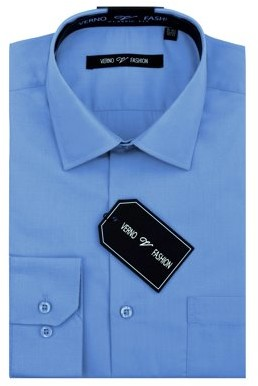 Verno Men's Classic Fashion Fit Dress Shirt