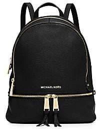 MICHAEL Michael Kors Women's Rhea Zip Leather Backpack