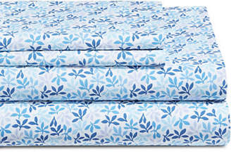 Martha Stewart Leaf Ditsy 300 Thread-Count Cotton Percale Sheet Set