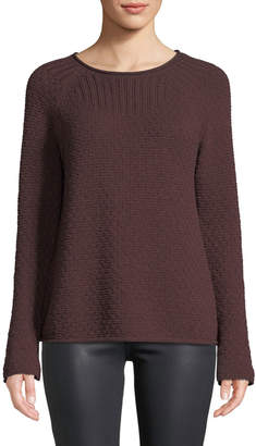 Lilla P Rolled Raglan-Sleeve Sweater