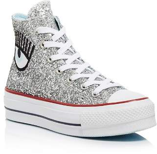 Converse x Chiara Ferragni Women's Chuck Taylor Glitter High Top Sneakers