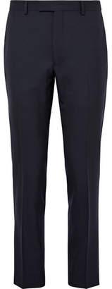 Gant Blue Smarty Slim-Fit Wool-Hopsack Suit Trousers - Men - Navy