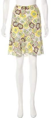 Gucci Silk Knee-Length Skirt