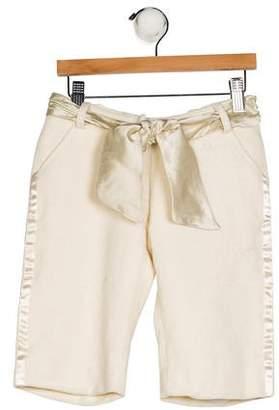 Christian Dior Girls' Wool Knee-Length Shorts