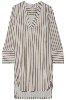 Brunello Cucinelli Striped Silk Mini Dress