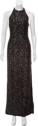 Halston Sleeveless Sequin Gown