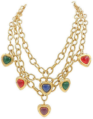 One Kings Lane Vintage 1980s Givenchy Heart Charm Necklace