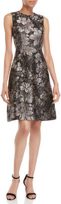 Dolce & Gabbana Floral Brocade Fit & Flare Dress
