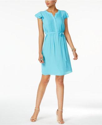 Nine West Pintucked Flutter-Sleeve Dress $79 thestylecure.com