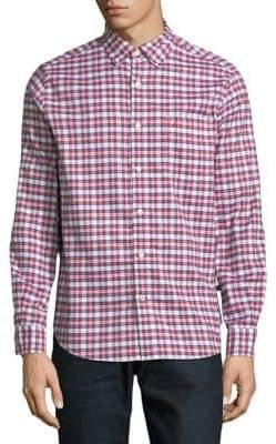 Nautica Oxford Woven Plaid Sport Shirt