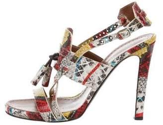 Proenza Schouler Multicolor Leather Sandals