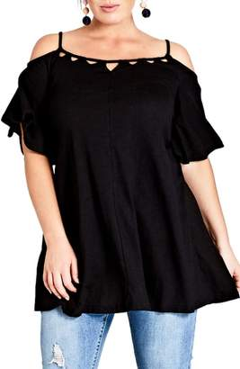City Chic Cold Shoulder Tunic