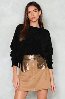 Nasty Gal PU Panel And Pocket Mini Skirt