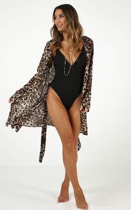 a898a1068a Showpo Twilight Turns Robe in leopard print - 8 (S) Animal Print