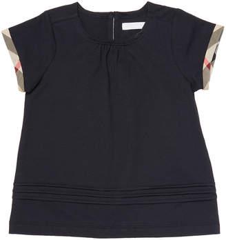 Burberry Plaid Trim T-Shirt