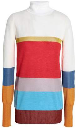 Missoni Striped Knitted Turtleneck Sweater