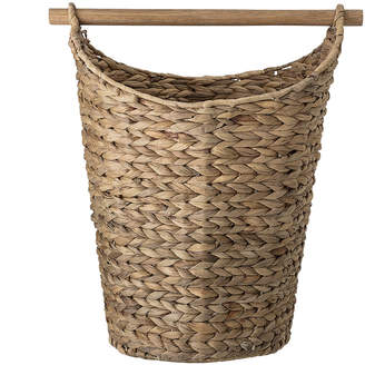 Bloomingville - Woven Water Hyacinth Basket with Wooden Handle