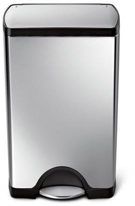 Simplehuman 38 Litre / 10 Gallon Rectangular Step Trash Can Fingerprint-Proof Stainless Steel