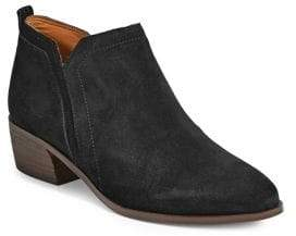 Franco Sarto Paivley Leather Stacked Heel Ankle Booties