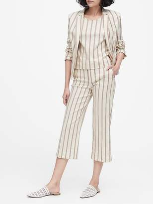 Banana Republic Petite Tailored-Fit Linen-Blend Blazer