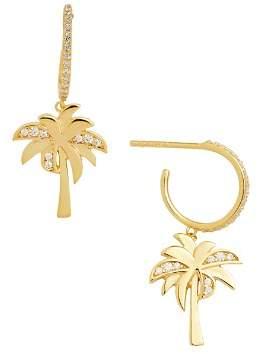 BaubleBar Palma Hoop & Palm Tree Earrings
