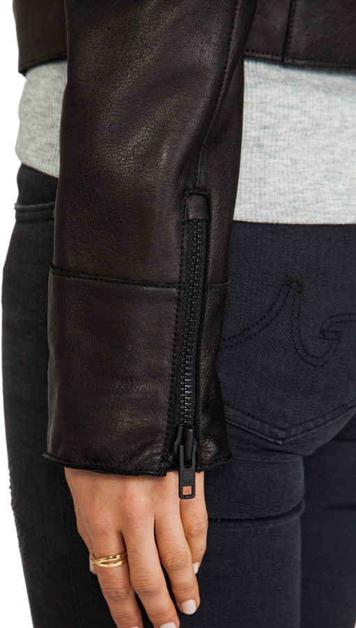 Mackage Izi Cow Milled Leather Jacket